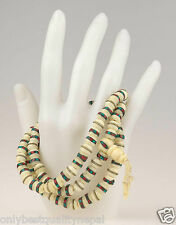 Mala Halskette Yak Knochen Nepal Knochenschmuck Gebetskette Buddha 49h