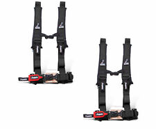 """Dragonfire Racing Black Pair H-Style 4 Point 2"""" Seat Belt Harnesses Universal"""