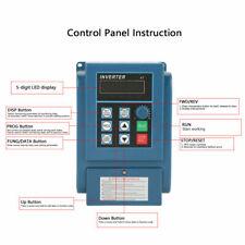 1HP AC 220V 0.45kW Einstellbarer Frequenzumrichter VFD Inverter Motor Kontrolle
