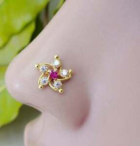 nose piercing  nose jewelry blackowned jewelry nose studs Star studs silver ring