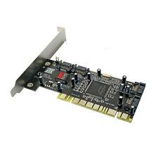 PCI to 4x SATA 32bit SiL 3114 Hard Drive RAID controller Card