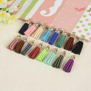 10PCS Colorful Tassel PomPom Charm Pendant DIY For Keychain Bag Accessories UK