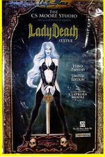 Lady Death Statue 2008 New Clayburn Moore Chaos Comics Factory Sealed