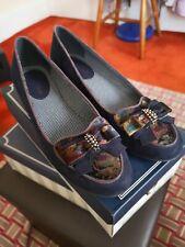 Ruby Shoo Navy Victoria court shoes Slip On Uk 5 - EU 38