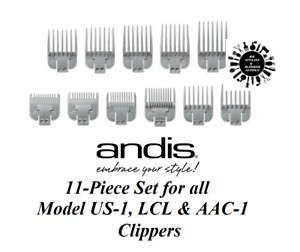 ANDIS 11pc Snap-On Attachment Guide COMB SET for US-1,LCL,AAC-1,Tackmate Clipper