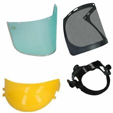 Safety Helmet Hat Forestry Gardening Chainsaw Protection Mesh & 2 Clear Visors