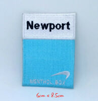 Newport cigarettes menthol box Iron on Sew on Embroidered Patch #1349