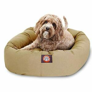 32 inch Khaki Bagel Dog Bed By Majestic Pet Products