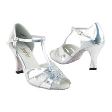 "~50 SHADES of SILVER~ 2.5"" Heel Dance Dress Shoes Collections-I by Party Party"