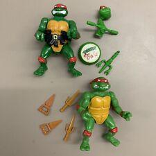 Vintage Ninja Turtle Head Droppin Raph Complete W/ 1988 Raphael