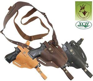 Universal Schulterholster Leder große/mittlere Pistole mit Unterlaufschiene HSN