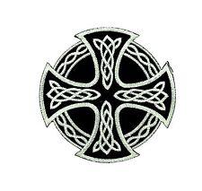 Patch toppe toppa ricamate termoadesiva Croce Celtica