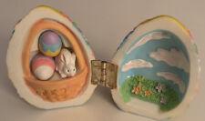 New ListingEaster Egg Trinket Box-hinged w/Bunny & Eggs. Free Shipping.