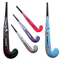 "Junior Hockey Sticks Wooden Kids Hockey Stick Reinforced 26"",28"",30"",32"",33"",34"""
