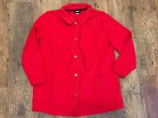 Longline Red Fleece Jacket Plus Size 22 NEW