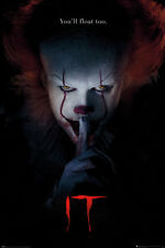 It Pennywise Large Poster Stephen King Horror Movie Official Wall Decor Bedroom