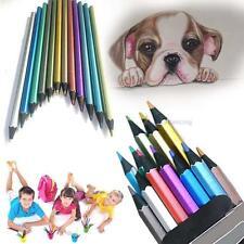 12pcs non métalliques toxique crayons à dessin Colorié couleur dessin croquis QW