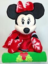 New listing Disney Minnie Mouse Singing Rocking Sledding Fun Animated Christmas Plush Toy