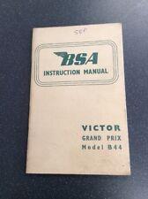 Genuine Nos Bsa Victor Grand Prix  B44 Instruction Manual