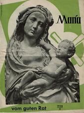Zeitschrift - Maria vom guten Rat Nr. 6 von 1958 Würzburg Kirche Religion