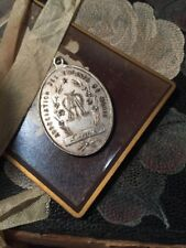 Antique Nun Medal Pendant To Children Of Mary French Marian Monogram Denise