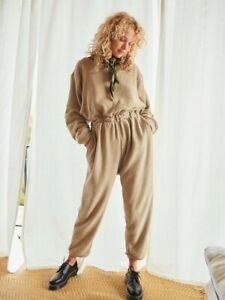 NWT Free People Beach Keeping It Real Soft Jumpsuit Womens Large MSRP $128