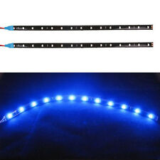 2x Car Motor 12V 5050 30CM-12SMD LED flexible strips Eyebrow lights Decor Blue