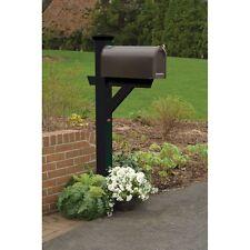 Hazleton Mailbox Post (Eco-Friendly Synthetic Wood In Black)-Ad-Mlbx1-Bke