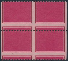 1954 TEST STAMPS IMPERF BETWEEN BLOCK OF 4 WITH 2 VERTICAL PAIRS BS2028