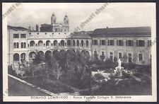 BERGAMO ROMANO DI LOMBARDIA 10 COLLEGIO SAN DEFENDENTE Cartolina viaggiata