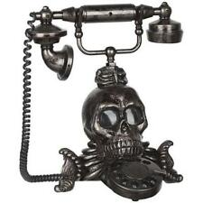 Victorian Skull Phone With Light And Sound Effects Tabletop Decoration Prop