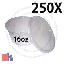 250 Recipientes para alimentos para bebés & Multi Uso de Almacenamiento fuerte Olla Redonda 16oz 120x64mm
