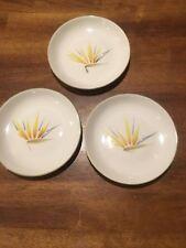 "Vtg Winfield USA CA Bird of Paradise Bread  Plate 5-3/4"" Set of 3 EC"