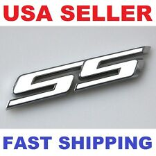 3D White【SS】 Emblem Logo Decal Chevrolet Chevy Fadeproof BADGE Front Grille Logo