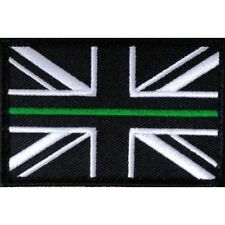 Thin Green Line Union Jack Hook & Loop Backed Patch LARGE First Responder Medic