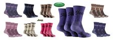 3 Pairs Ladies Luxury Jeep Terrain Walking Socks Size 4-7 Uk 37-40 Eur 9 Colours