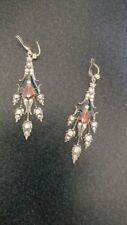 Enamel Enamel Earrings Vintage Costume Jewellery