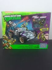 Teenage Mutant Ninja Turtles Mega Blocks Donnie Casey Jone Turtle Racer 2016 NIB