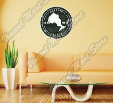 "Ontario Canada Country Map Grunge Stamp Wall Sticker Room Interior Decor 22""X22"""