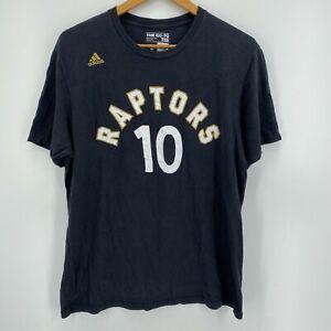 Adidas T-Shirt Men's L Black Toronto Raptors #10 DeRozan