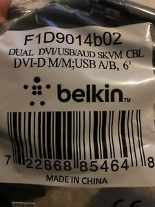 Belkin Dual DVI USB audio 2' kVM Cable - package mis-labeled this is only 24""