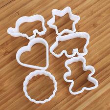 6PCS Plastic Fondant Cutter Cake Mold Moulds Decorating Tools Cookie Sugar Craft