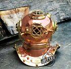 Antique USA Navy Copper Divers Diving Helmet Sea Solid Brass Desk Vintage Décor.