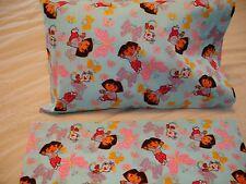 Dora Boots Butterflies Blue  Toddler/Travel Size Cotton Pillowcase (1)