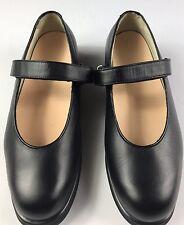 Mt. Emey Womens Black Leather Orthopedic Shoes Mary Jane Flats Size 8.5B 9202