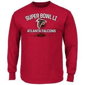 """Atlanta Falcons Majestic NFL Super Bowl LI 51 """"Destination"""" L/S Men's T-Shirt"""