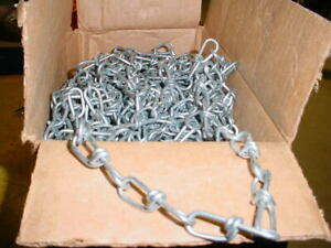 100 feet of  DOG TIE OUT CHAIN Silver Steel SMALL/MEDIUM Size dogs