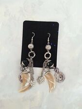 'Shark Tooth' earrings. Handmade by Michelles Miracles.