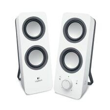 Logitech Z200 2.0 PC-Lautsprecher schneeweiss Stereo Sound