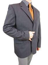 PAUL SMITH Mens Grey Wool Single Breast Tailored Tweed Jacket Blazer sz 44 AS18